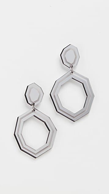 Diana Broussard Lazer Detail Eurydice Earrings