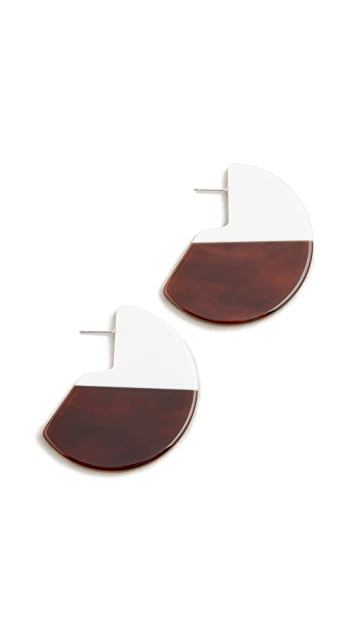 Diana Broussard Misto Bicolor Disc Earrings