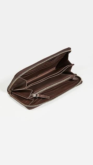 DRAGON DIFFUSION Interlaced Zip Around Wallet