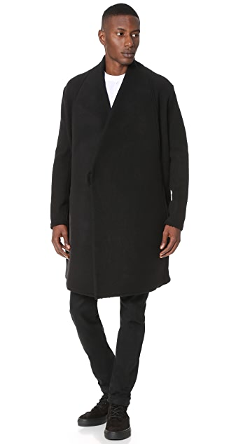 Damir Doma Chopino Heavy Felted Wool Wrap Coat