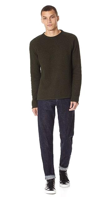 De Bonne Facture Boiled Wool Raglan Sweater