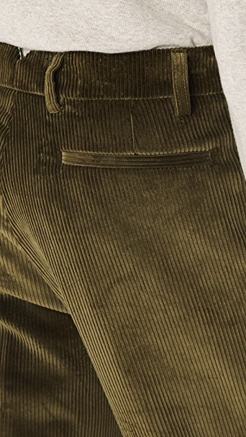 De Bonne Facture One Pleat Cord Trousers