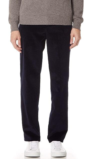 De Bonne Facture Wide Leg Cord Trousers