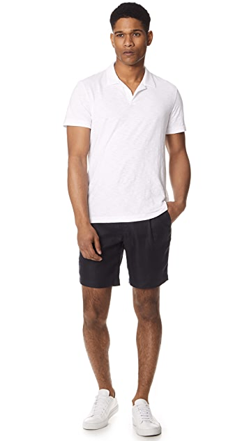 De Bonne Facture One Pleat Bermuda Shorts