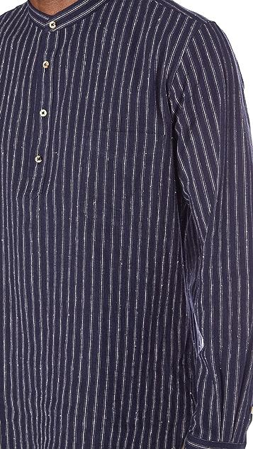 De Bonne Facture Granddad Popover Shirt