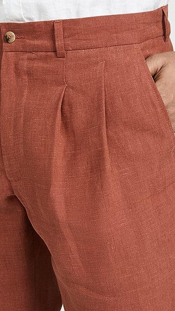 De Bonne Facture Two Pleat Wide Leg Trousers