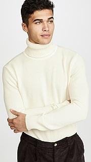 De Bonne Facture Italian Pique Long Sleeve Turtleneck Sweater