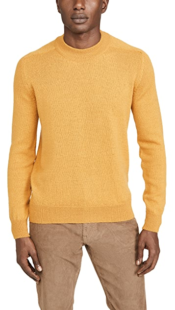 De Bonne Facture Long Sleeve Mock Neck Alpaca Sweater