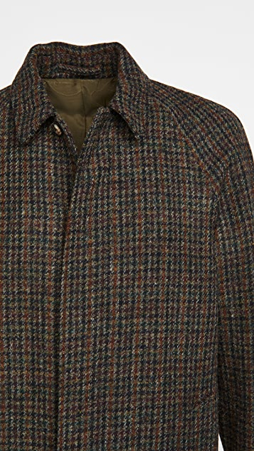 De Bonne Facture Harris Tweed Wool Parisian Raincoat