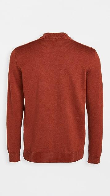 De Bonne Facture Merino Wool Mock Neck Sweater