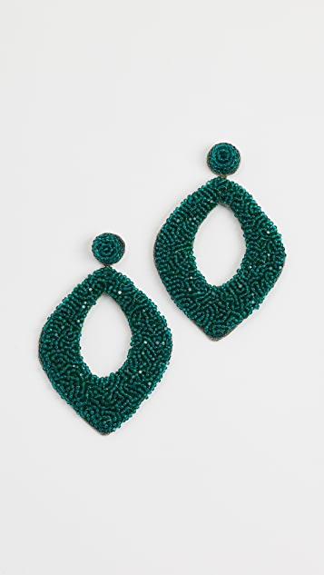 Deepa Gurnani Erte by Deepa Gurnani Kate Earrings