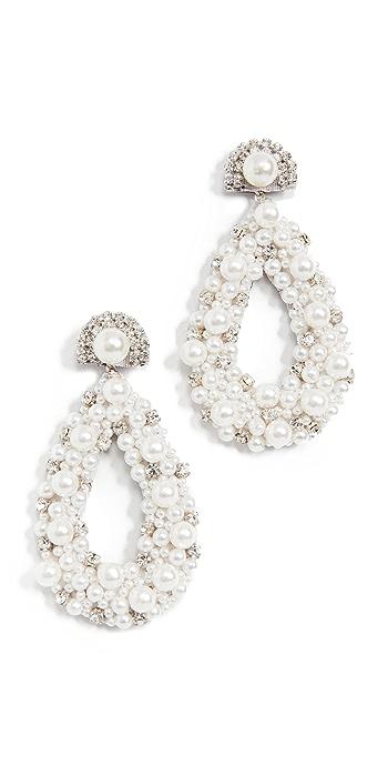 Deepa Gurnani Deepa by Deepa Gurnani Arabella Earrings - Ivory