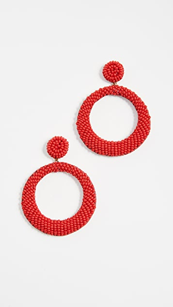 Deepa Gurnani Robertas Earrings - Red