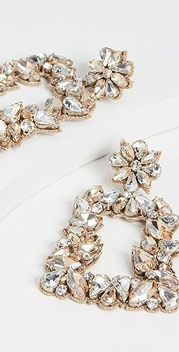 Deepa Gurnani - Deepa by Deepa Gurnani Gold Crystal Earrings