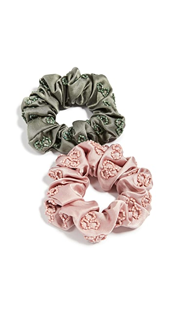 Deepa Gurnani Deepa by Deepa Gurnani Naira Scrunchie Set of 2
