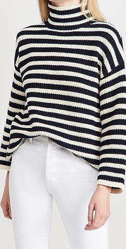 DEMYLEE - Olyvia 条纹棉高领毛衣
