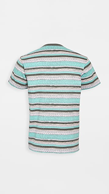 Deus Ex Machina Sunrise Striped T-Shirt