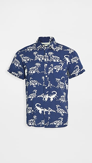 Deus Ex Machina Scorpion Print Short Sleeve Shirt