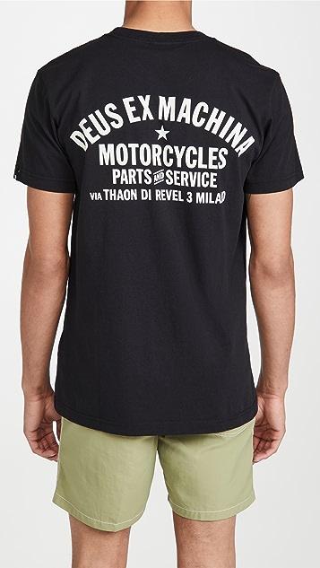 Deus Ex Machina Milano Address T-Shirt