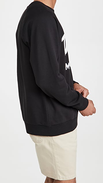 Deus Ex Machina Curvy Crew Neck Sweatshirt