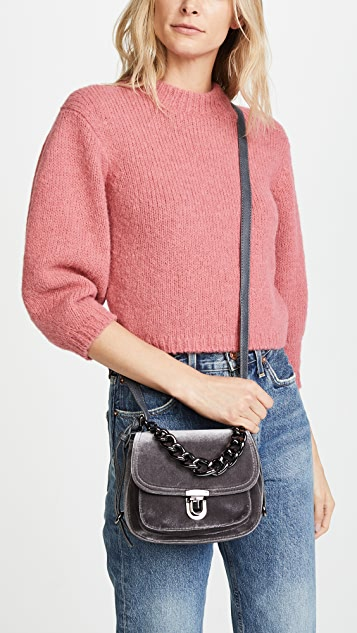 Deux Lux Roma Velvet Cross Body Bag