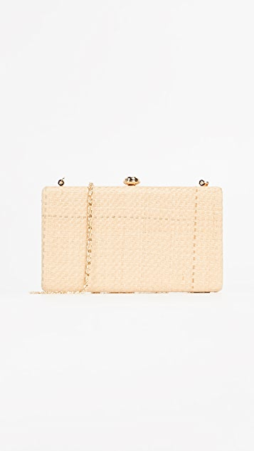Deux Lux Straw Box Clutch - Ecru