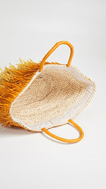 Deux Lux Ombre Straw Tote Bag