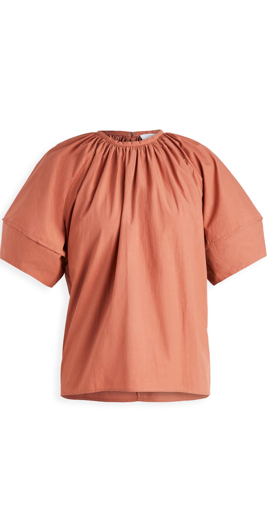 Deveaux Margot Poplin Puff Sleeve Top