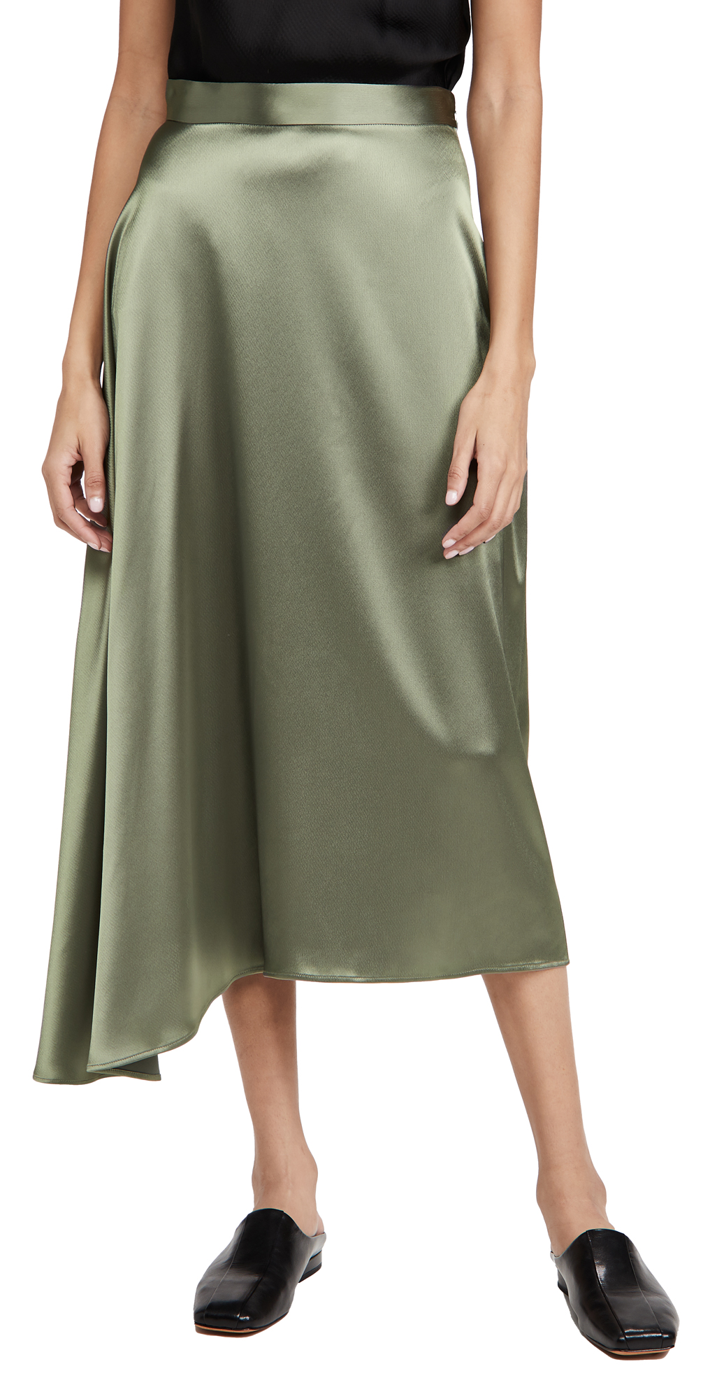 Deveaux Merel Bias Slip Skirt
