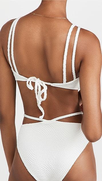 Devon Windsor Indigo Bikini Top