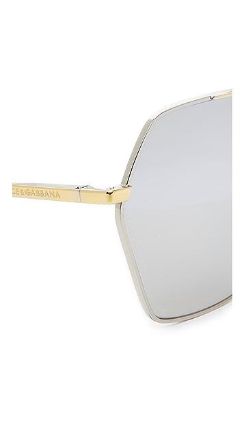Dolce & Gabbana Mirrored Aviator Sunglasses