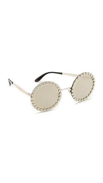 74be7faeaa8 Dolce   Gabbana Daisy Round Sunglasses