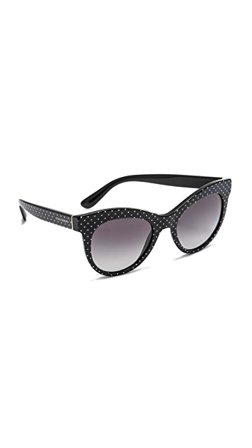 Dolce & Gabbana Cat Eye Polka Dot Sunglasses
