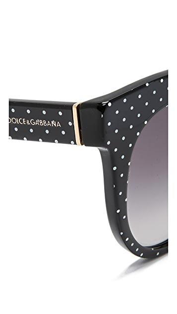 6d78a2edf9d ... Dolce   Gabbana Cat Eye Polka Dot Sunglasses