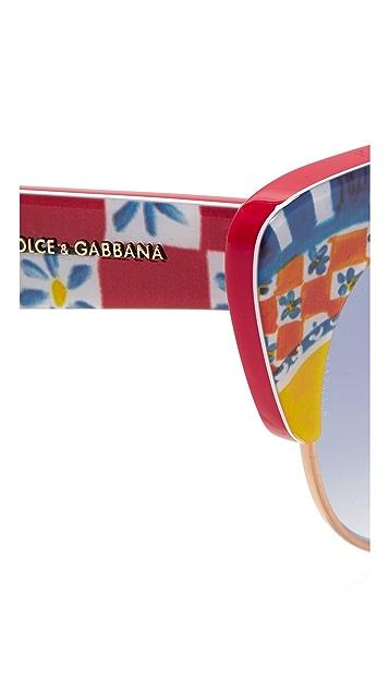 Dolce & Gabbana Mambo Cat Eye Sunglasses