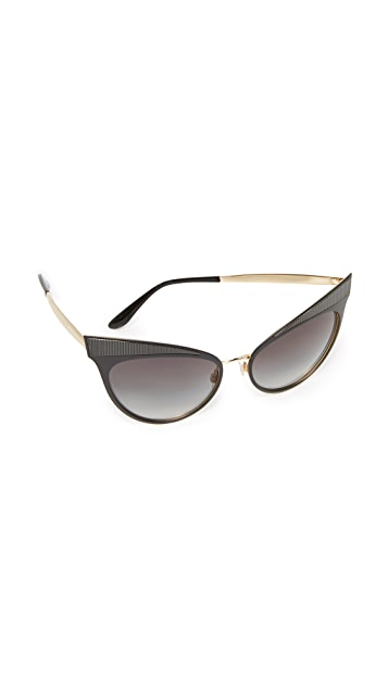 Dolce & Gabbana Grosgrain Cat Eye Sunglasses