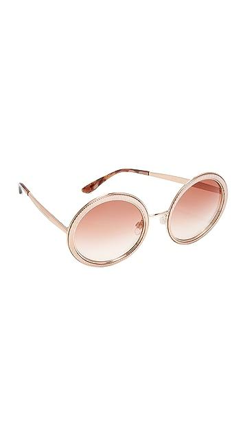 9a2b9b957e11 Dolce   Gabbana Grosgrain Round Sunglasses