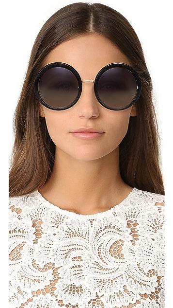 Dolce & Gabbana Grosgrain Round Sunglasses