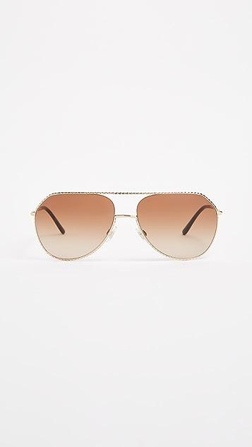 Dolce & Gabbana Ortensia Aviator Sunglasses