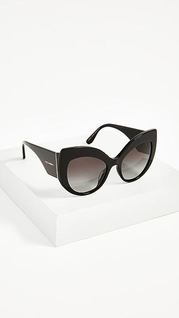 Dolce & Gabbana Ortensia Extreme Cat Sunglasses