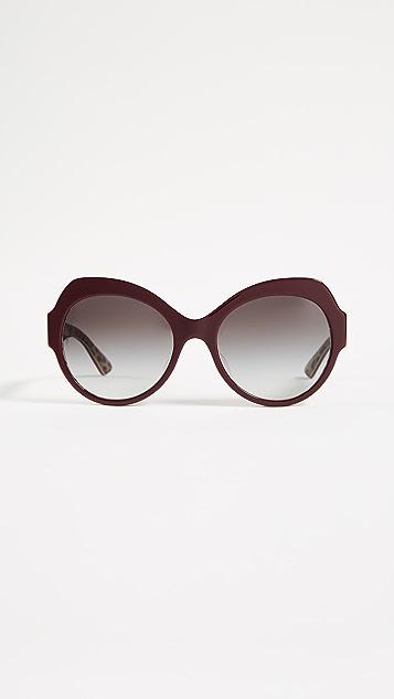 Dolce & Gabbana Ortensia Cat Sunglasses