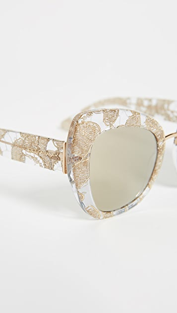 Dolce & Gabbana Lace Ortensia Cat Sunglasses