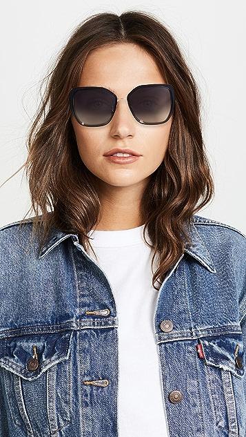 Dolce & Gabbana Square Fluted Sunglasses