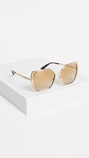 Dolce & Gabbana Square Fluted Sunglasses