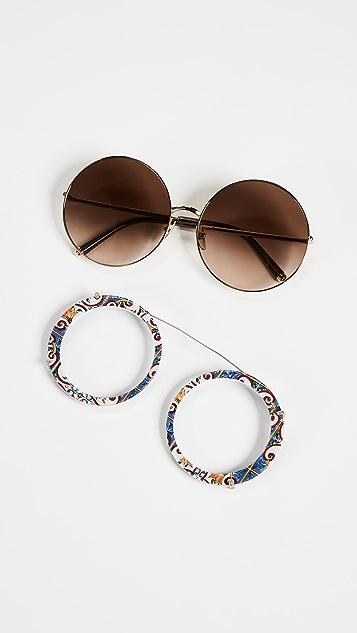 Dolce & Gabbana Round Maioli Sunglasses
