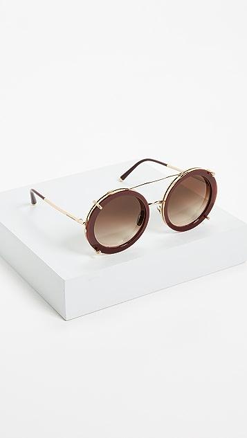 Dolce & Gabbana Round Leo Sunglasses
