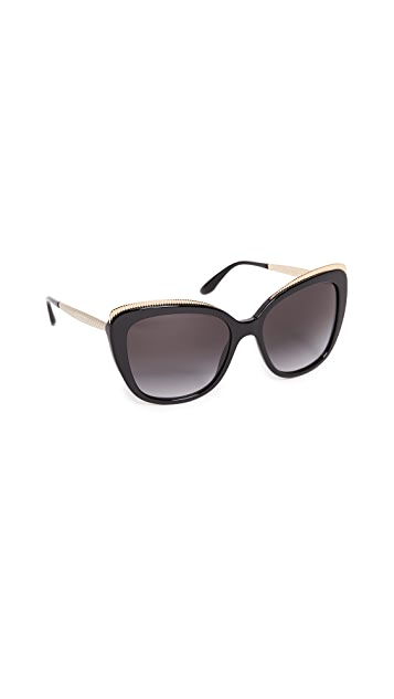 Dolce & Gabbana Top Fluted Sunglasses