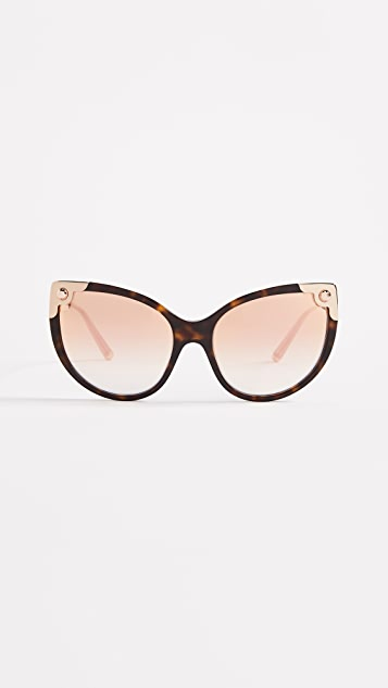 7fcba75932b0 Dolce   Gabbana Oversized Cat Eye Sunglasses