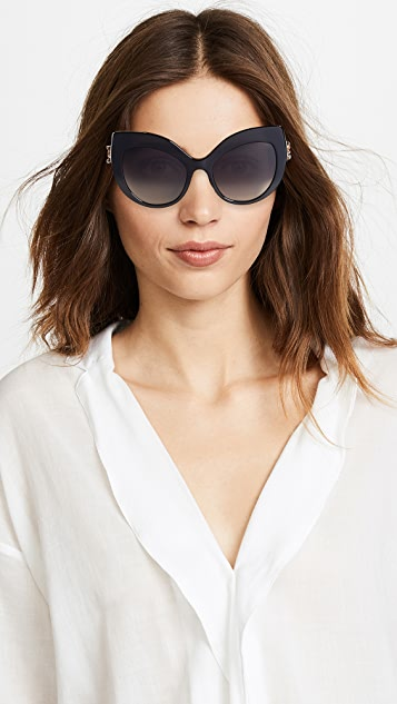 Dolce & Gabbana Extreme Cat Eye Sunglasses
