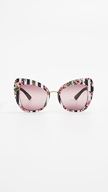 688b9d023 Dolce & Gabbana Rose Cat Eye Sunglasses | SHOPBOP